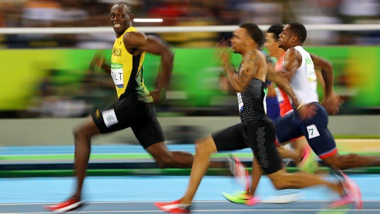 Usain Bolt, running faster than anyone in Rio 2016