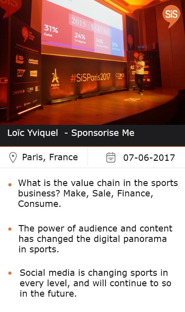 Loïc Yviquel - Sponsorie Me