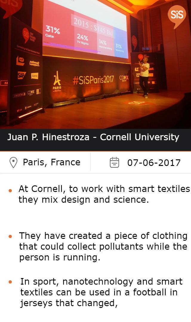 Juan P. Hinestroza - Cornell University
