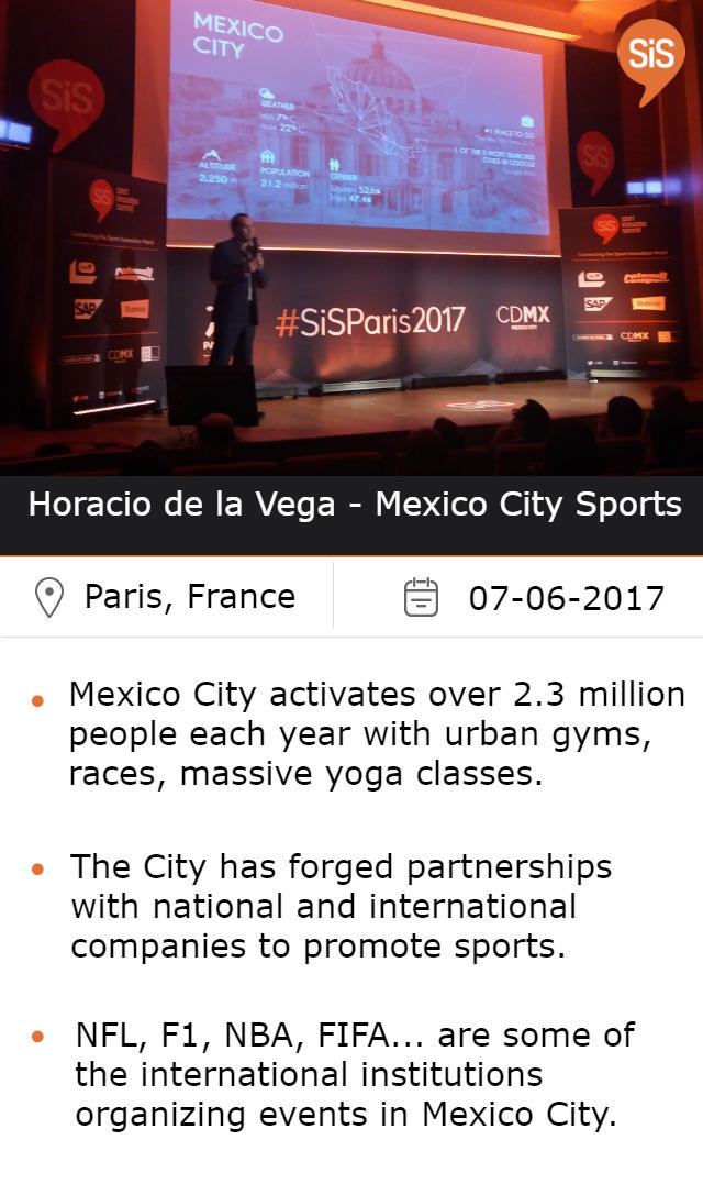 Horacio de la Vega, Head of Mexico City Sports