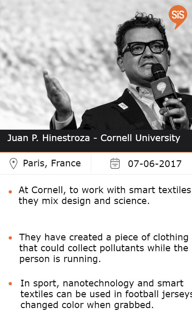 Juan P. Hinestroza - Cornell University, at #SiSParis2017