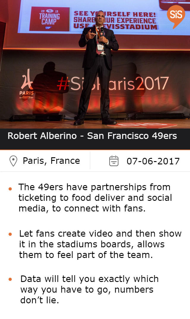 Robert Alberino - San Francisco 49ers, at #SiSParis2017