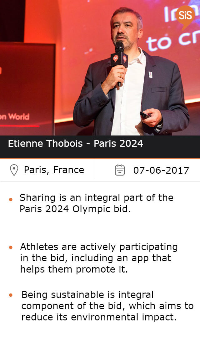 Etienne Thobois - CEO Paris 2024, at #SiSParis2017