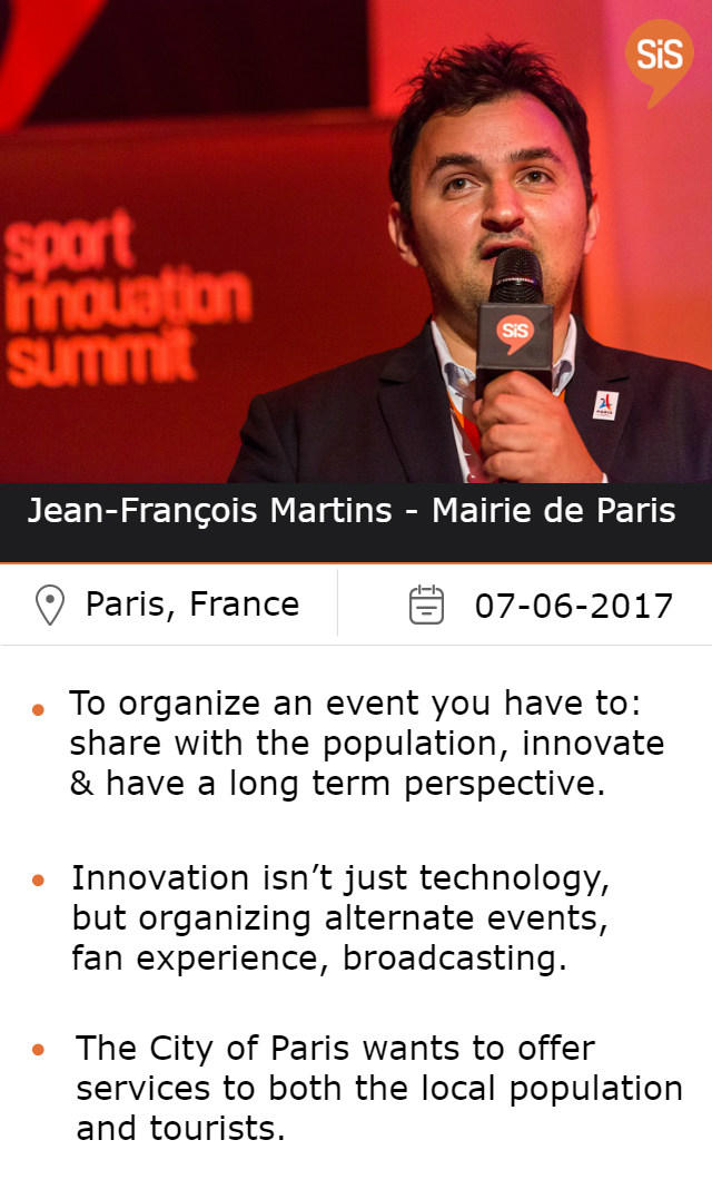 Jean-François Martins - Mairie de Paris at #SiSParis2017