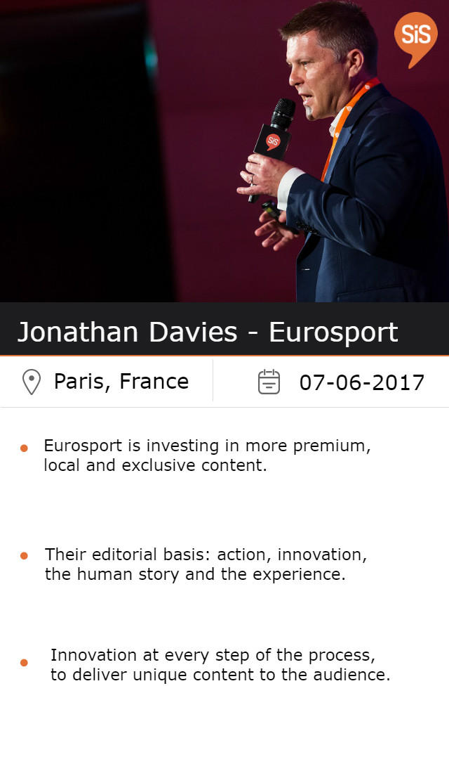 Jonathan Davies - Eurosport, at #SiSParis2017