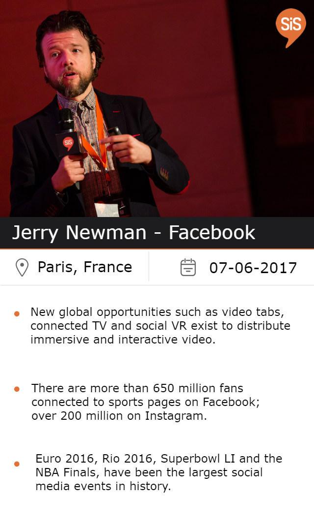Jerry Newman - Facebook, at #SiSParis2017