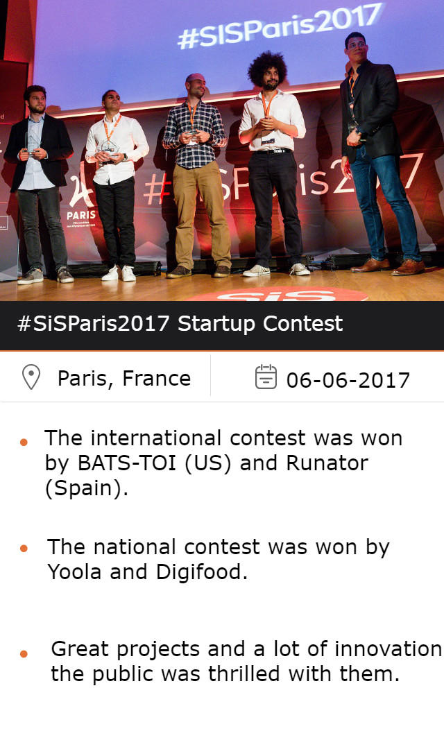 The winners of the Startup Contest #SiSParis2017