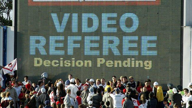 Use of video technology at a football match