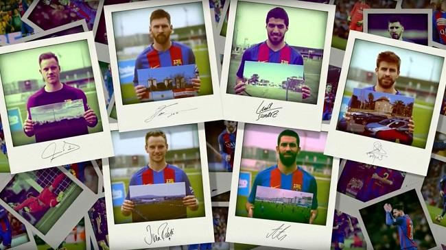 Barcelona stars remember their first training grounds