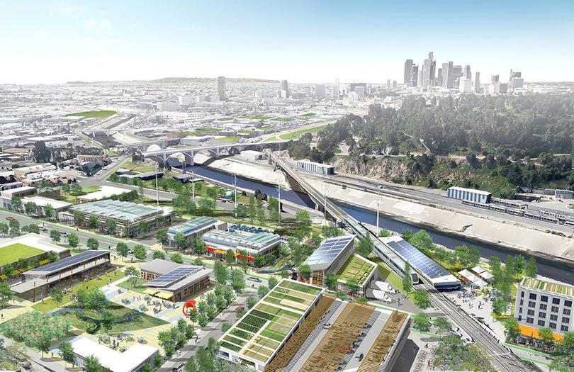A proposed view of LA 2024's village
