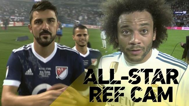 MLS Referee Cam shows Marcelo and David Villa