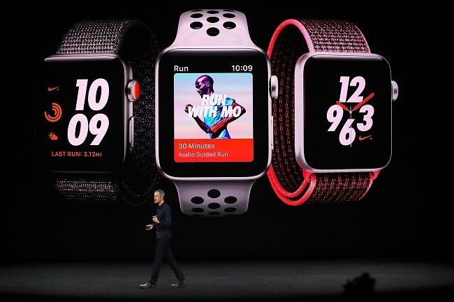 The Apple Watch 3 at the 2017 Apple Conference