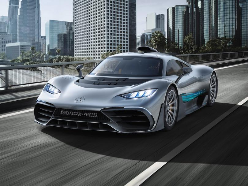 Mercedes Benz unveils its F1-inspired hybrid car