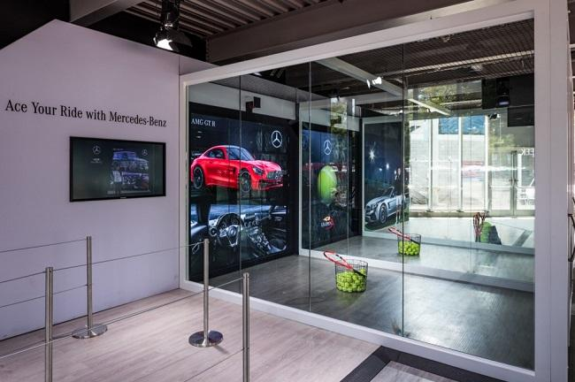 The Mercedes-Benz experience at the US Open