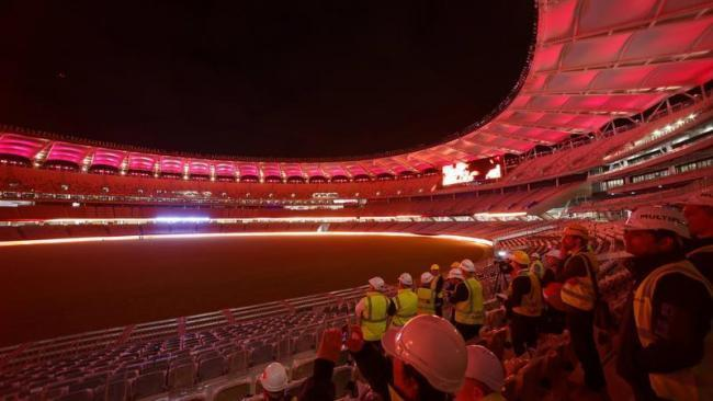 Perth Stadium impresses with 15,000 LED lights