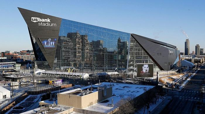 US Bank Stadium, venue for Super Bowl LII