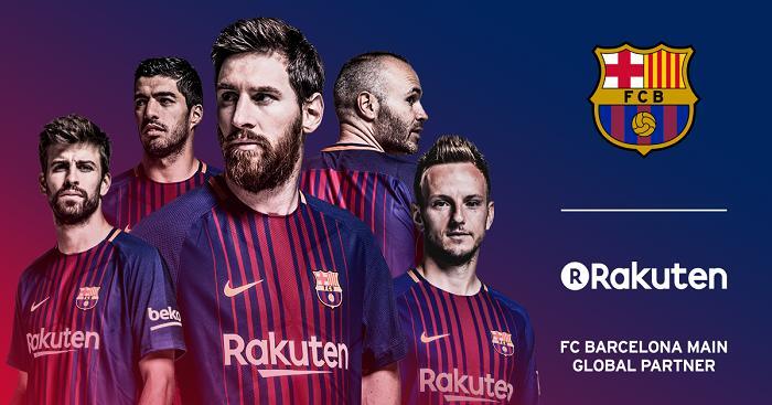 Rakuten in FC Barcelona's jersey as a main global partner