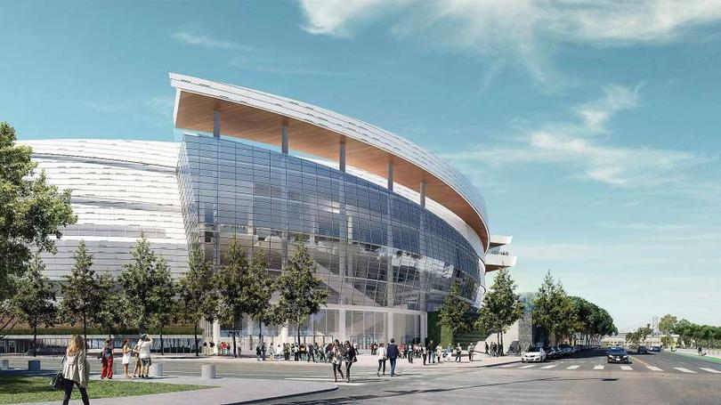 The new Golden State Warriors' arena