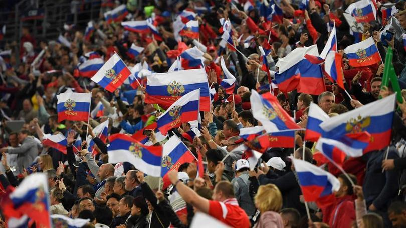 Fans at the Russia 2018 World Cup