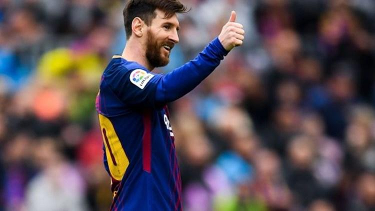 FC Barcelona's Lio Messi