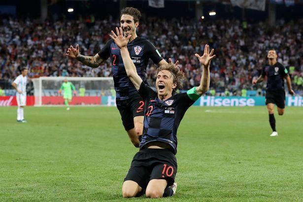 Croatia's Luka Modric at the Russia 2018 World Cup