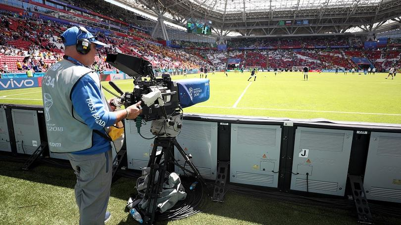 Camera man at the Russia 2018 World Cup