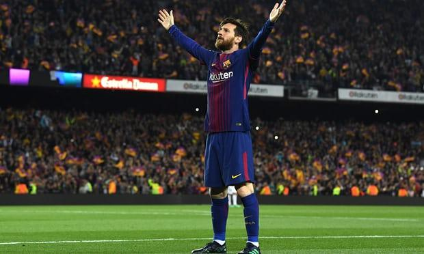 Barcelona's Lio Messi