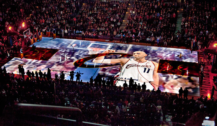 Projection at Cavaliers game