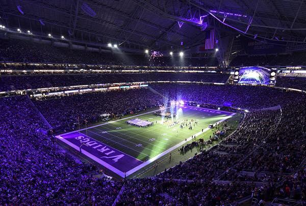 US Bank Stadium lights technology
